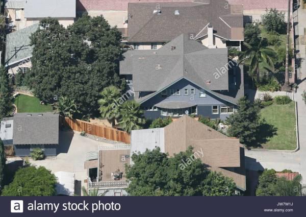 Aerial Views Of 'grey' Anatomy' Star Sandra ' Hollywood Home Stock 153222654 - Alamy