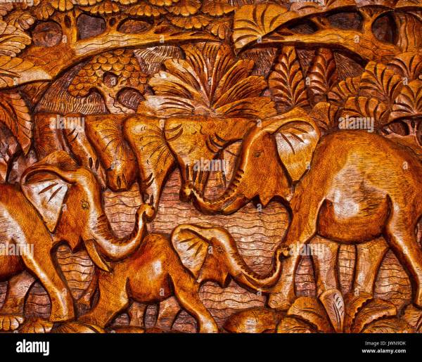 Bali Wood Carving Stock & - Alamy