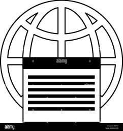 earth globe diagram communication icon image [ 1297 x 1390 Pixel ]