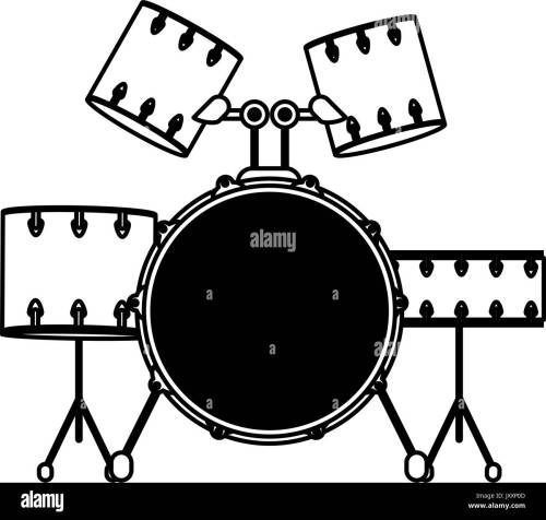 small resolution of drum set musical instrument icon image stock image