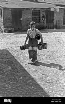 Barefoot Boy Black And White Stock & - Alamy