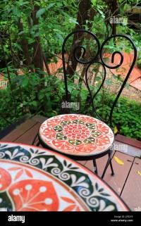 Painted Garden Chair Stock Photos & Painted Garden Chair ...