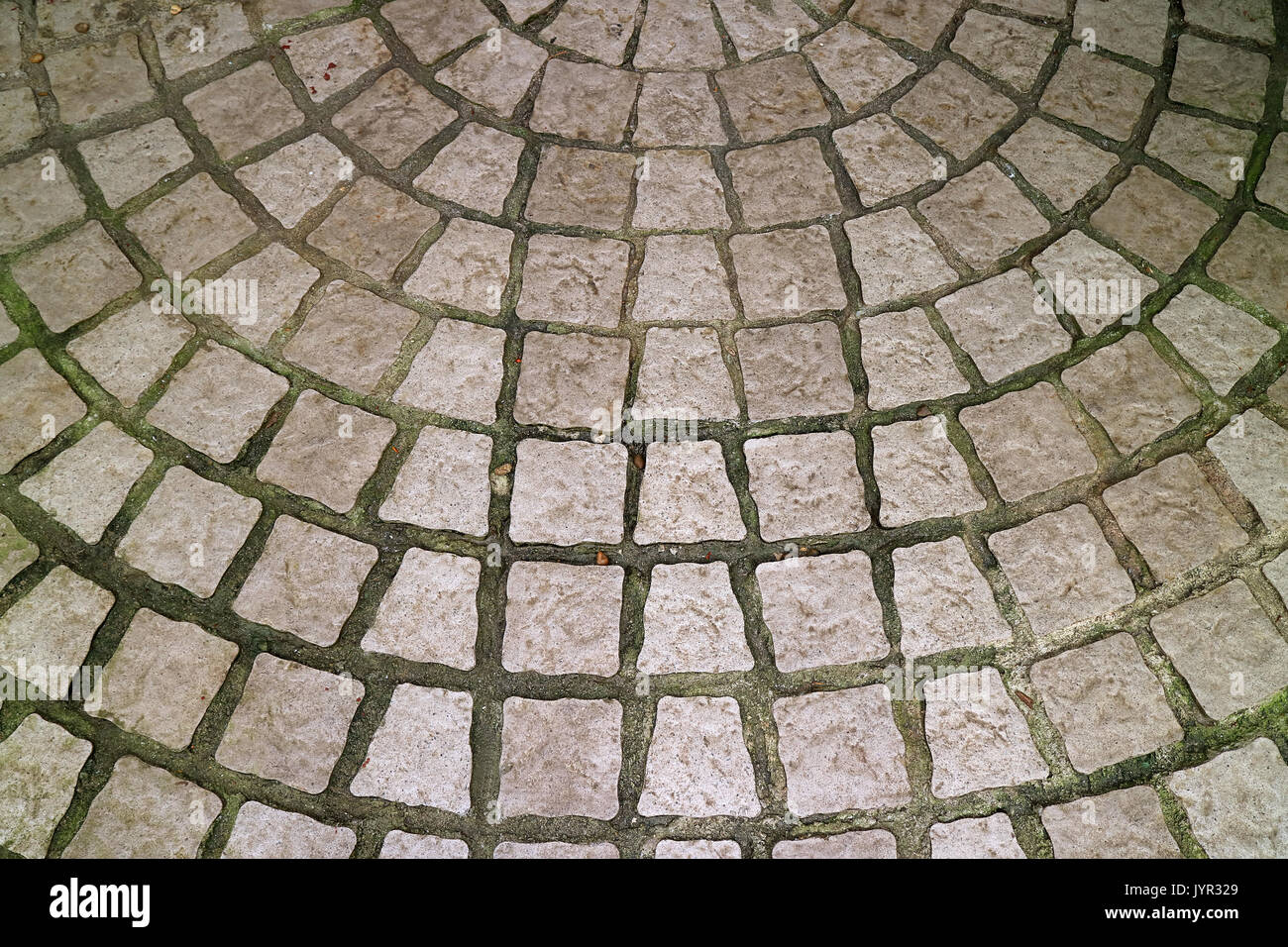 https www alamy com stone paved circular patio for background texture or pattern image154785969 html