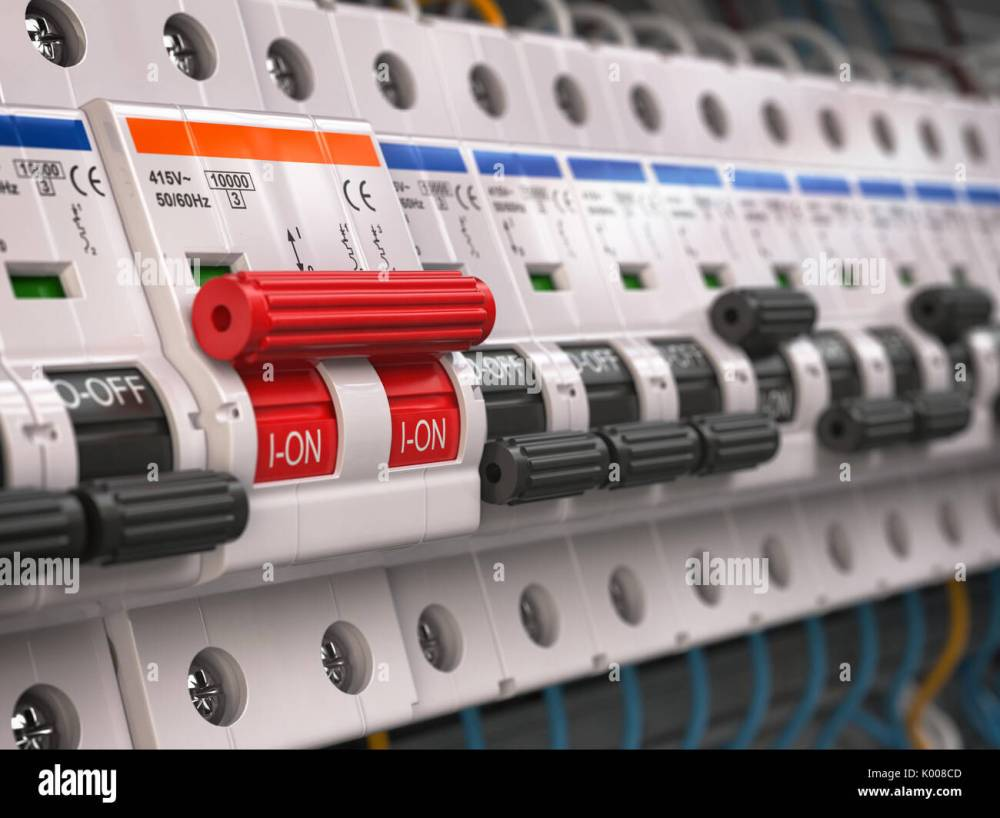 medium resolution of switches in fusebox many black circuit brakers in a row in position off and one