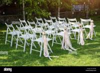 Beautiful wedding set up. Wedding ceremony in the garden ...
