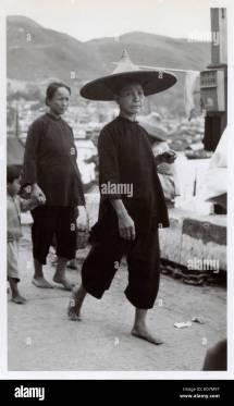 1950s Woman Walking Stock &