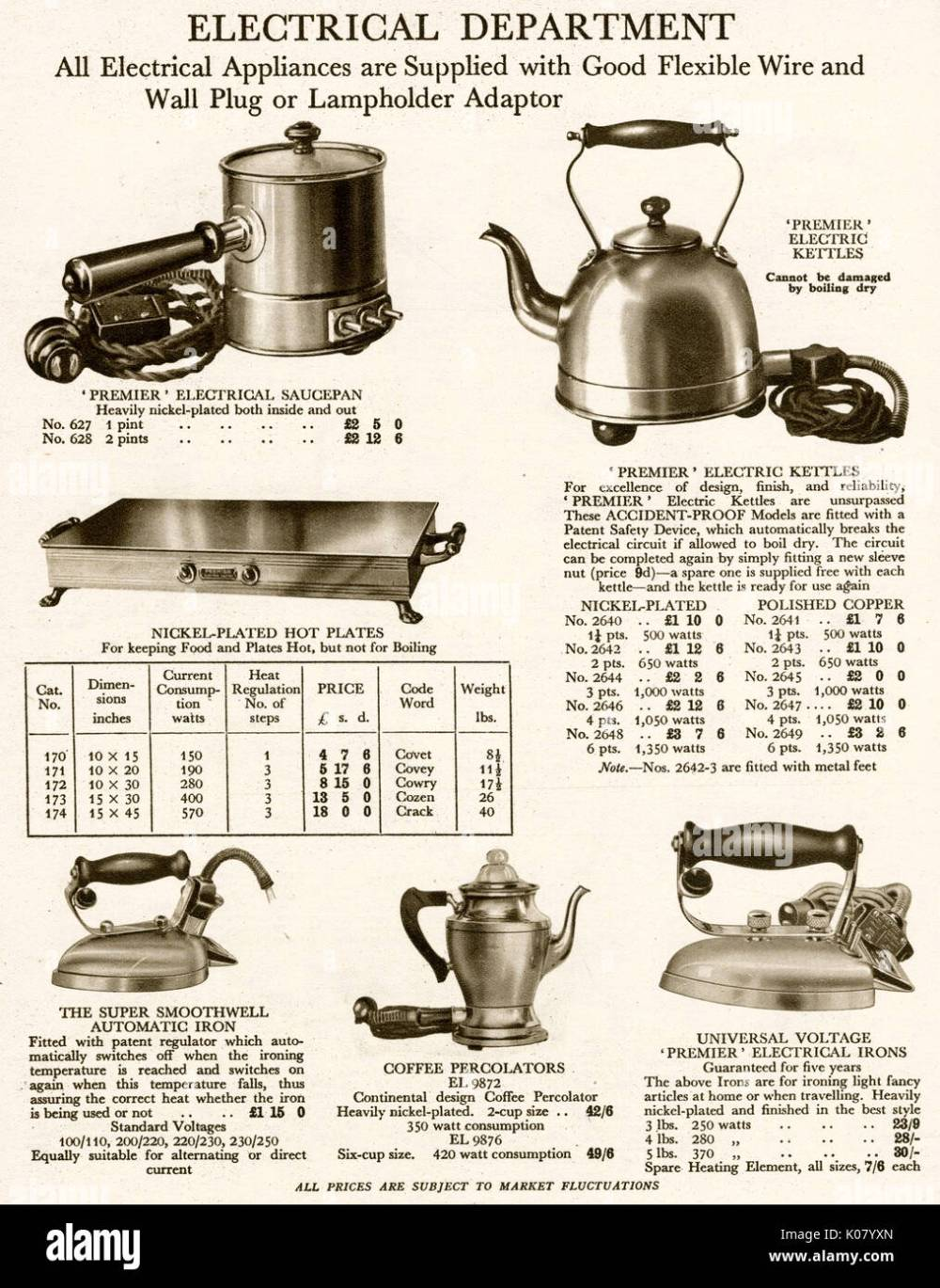 medium resolution of products from the harrod s catalogue electrical department household items with a flexible wire and wall plug date 1929