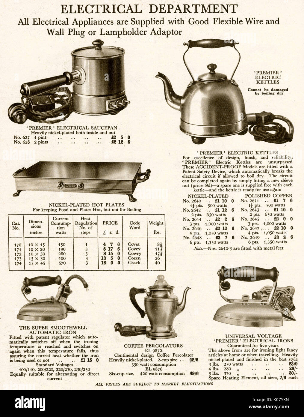 hight resolution of products from the harrod s catalogue electrical department household items with a flexible wire and wall plug date 1929