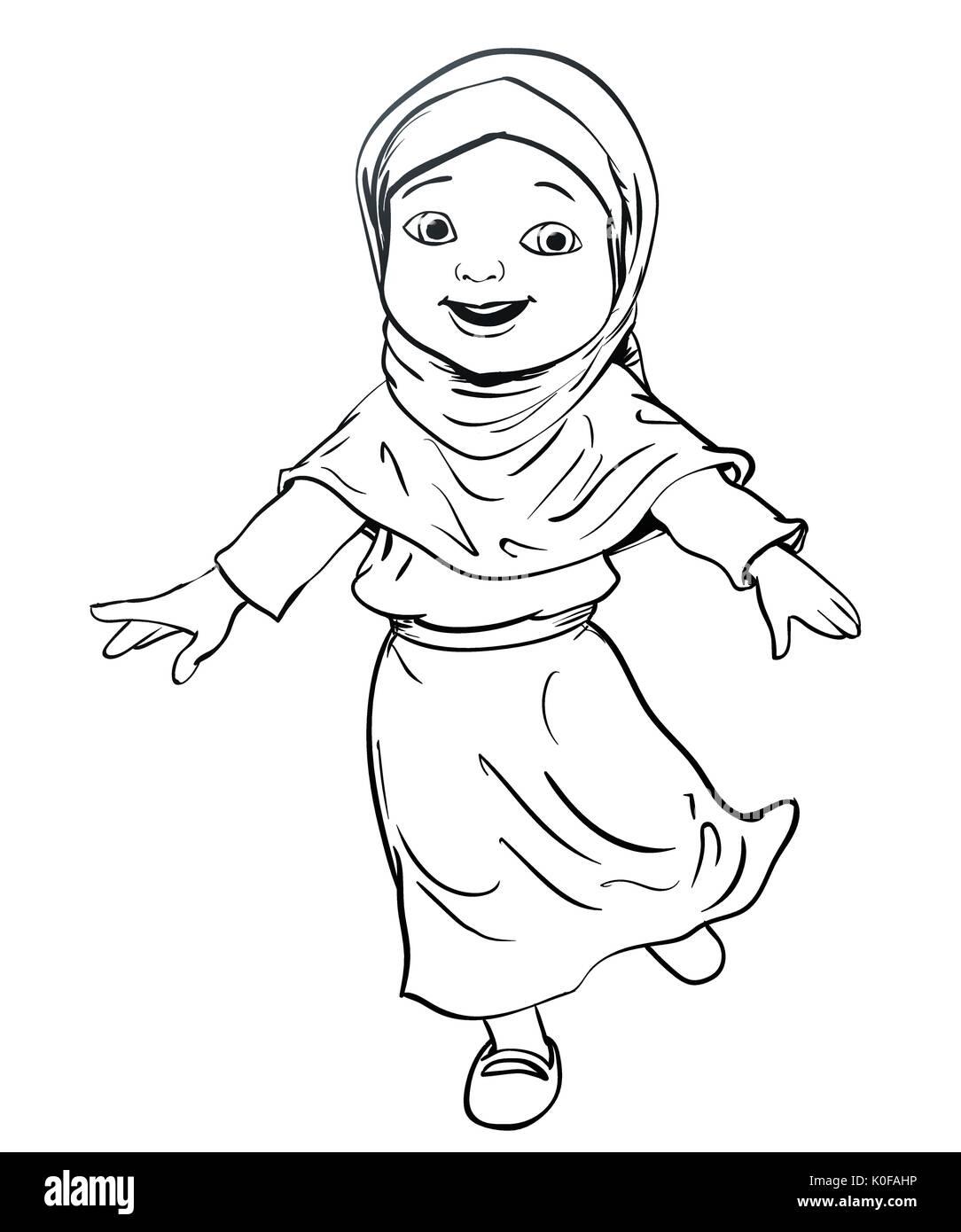 Cartoon Girl Hijab Stock Photos Amp Cartoon Girl Hijab Stock