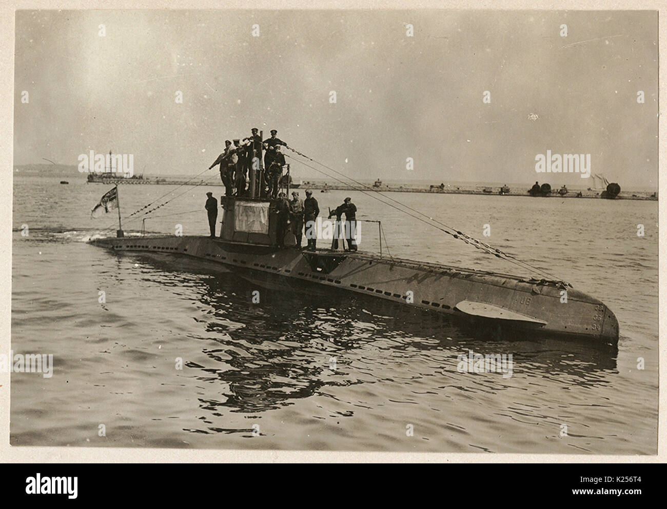 hight resolution of german u boat ub 14 with its crew stock image