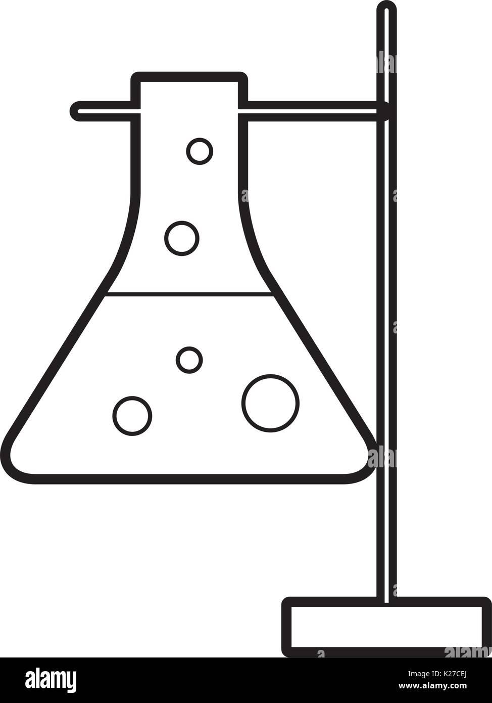 hight resolution of laboratory tube test with burner base