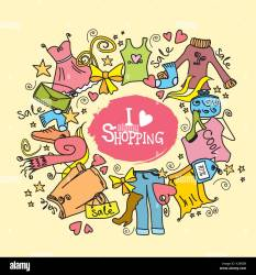I love shopping fashion shopping background clothes and accessories Stock Vector Image & Art Alamy