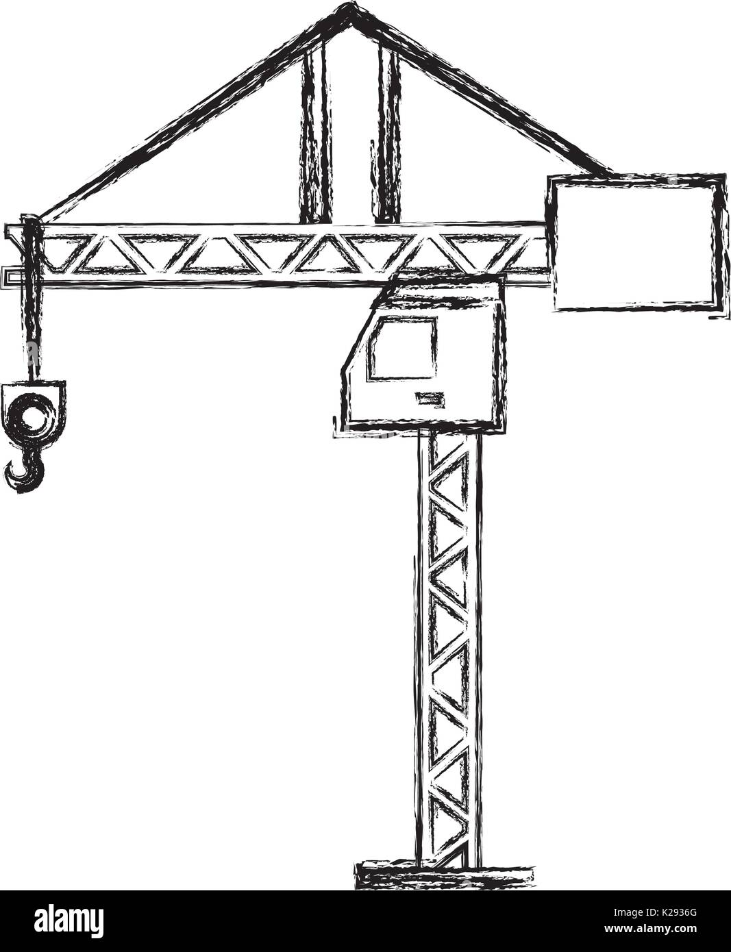 hight resolution of tower crane symbol