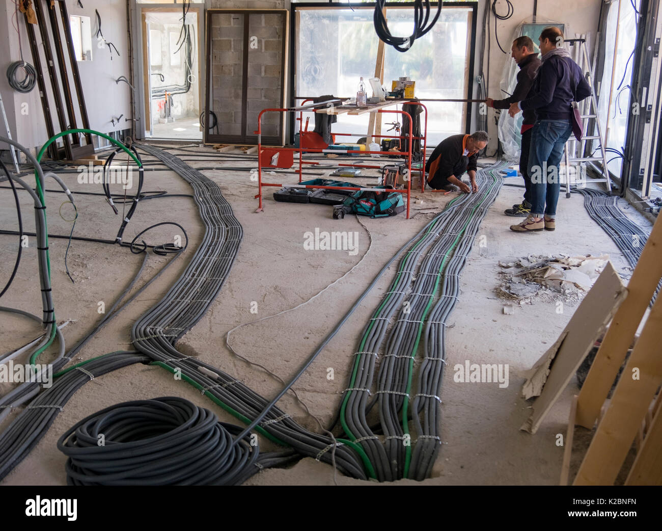 hight resolution of layout of electrical wiring in the construction of a new home in provence france