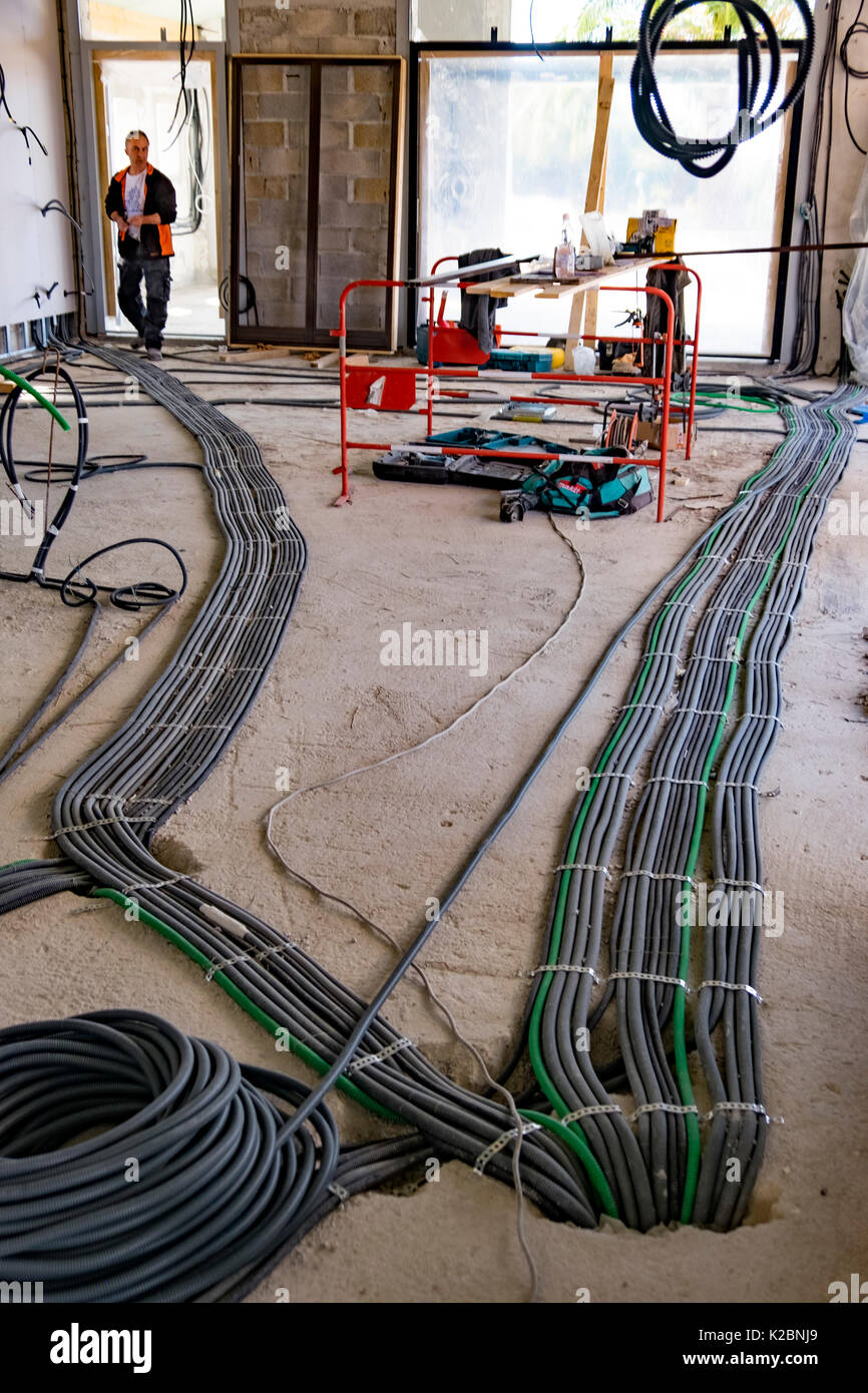 medium resolution of layout of electrical wiring in the construction of a new home in provence france