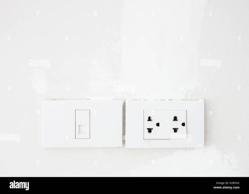 small resolution of electrical switch and telephone socket on the white wall in the living room copy space