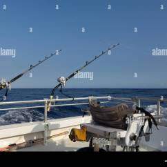 Fishing Chair Crane Bedroom Chairs Ikea Fighting With Gear On Offshore Deep Sea Boat In Pacific Ocean