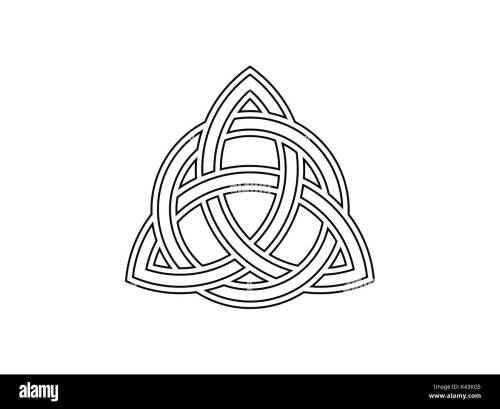 small resolution of celtic symbol of eternity vector illustration stock image