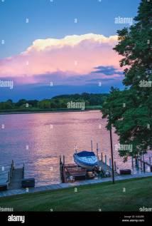 Dawn Over Lake Michigan Stock &