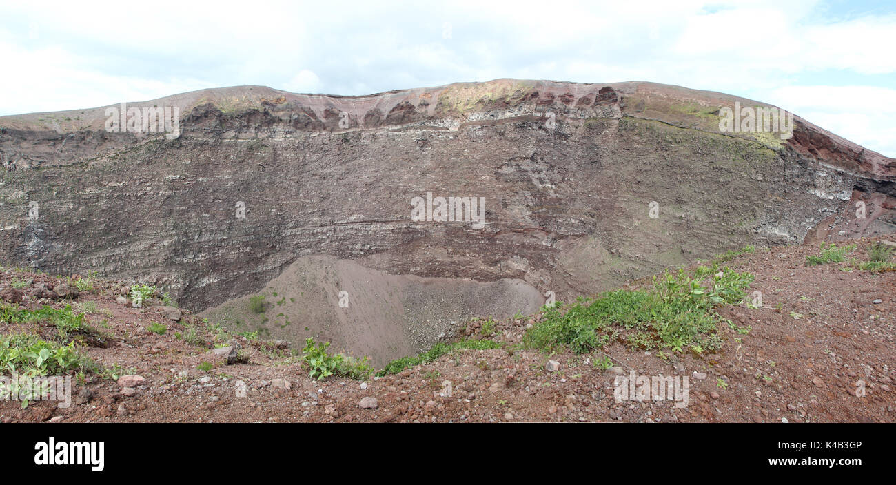 hight resolution of vesuvius crater volcano italy stock image