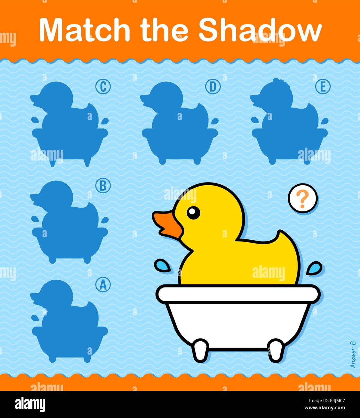 Match Shadow Puzzle Worksheet Kids Stock Photos Amp Match