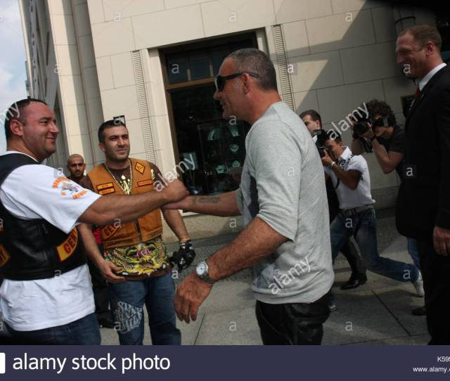 The Bandido Biker Gang Escort Him To The Ritz Carlton Hotel In Berlin Germany