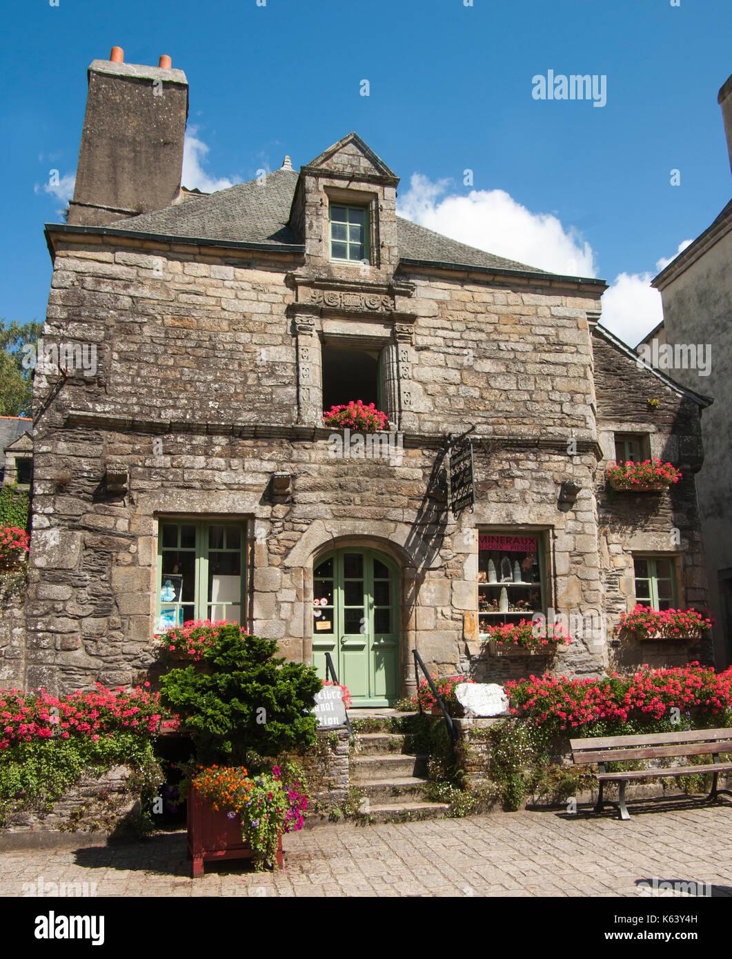 Les Plus Beaux Villages De Bretagne : beaux, villages, bretagne, Ancient, House, Rochefort, Terre,, Labelled, Beaux, Villages, Stock, Photo, Alamy