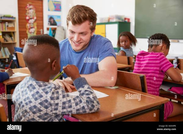 Black Boy White Teacher In Stock &