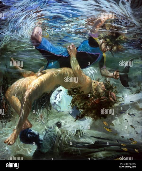 Neptune Greek Mythology Painting
