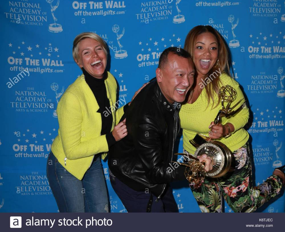 medium resolution of fab life joe zee lauren makk leah ashley celebrities attend the 42nd annual daytime emmy awards official emmy talent lounge at the steven j ross