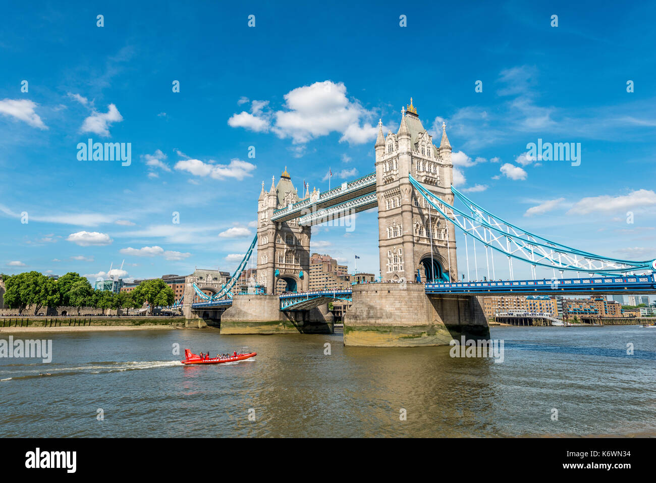 Tower Bridge Over The Thames Southwark London England Great Britain