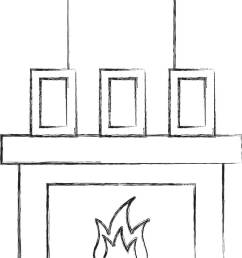 fireplace chimney flame indoor decoration [ 952 x 1390 Pixel ]