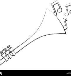 trumpet notes wind musical instrument horn [ 1300 x 1129 Pixel ]