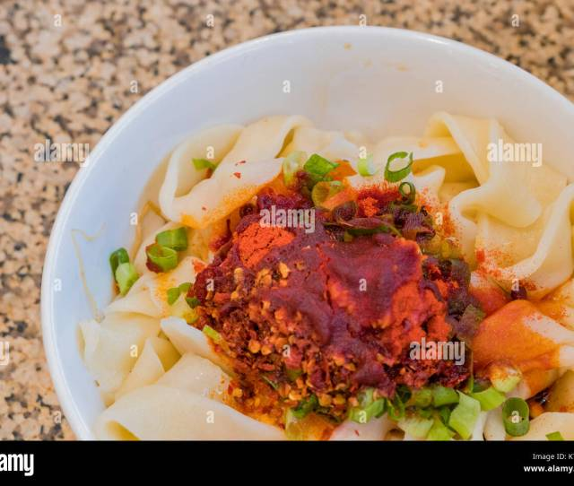 Shaanxi Style Youpo Noodle Is A Famous Chinese Special Style Noodle Ate At Los Angeles California U S A