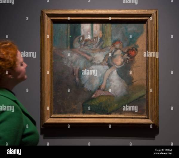 Drawing Edgar Degas Stock &