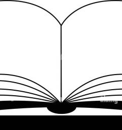 open book vector clipart silhouette symbol icon design illustration isolated on white background  [ 1300 x 803 Pixel ]