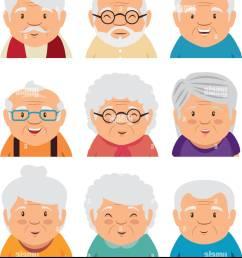 set of grandparents face vector illustration graphic design [ 1144 x 1390 Pixel ]