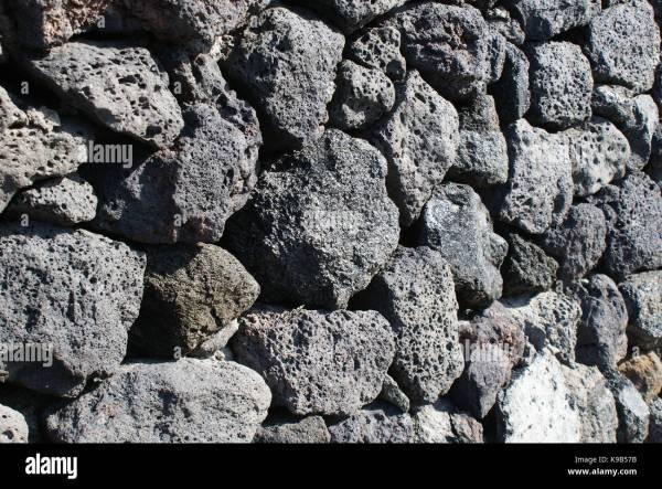 Black Basalt Stone Wall