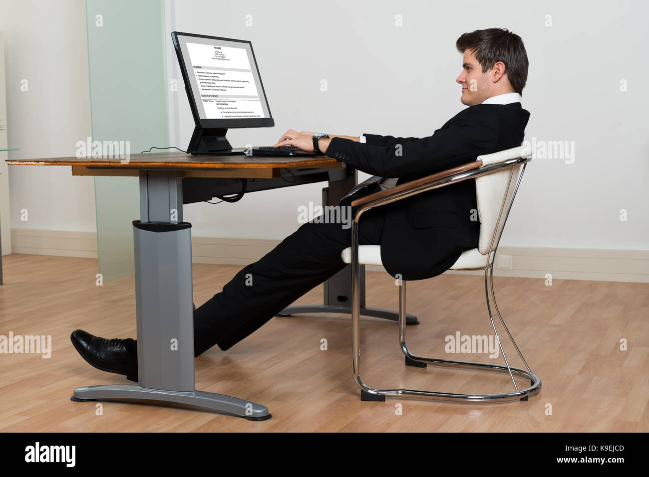 office chair leaning to one side covers for hire chatsworth wrong sitting posture stock photos and
