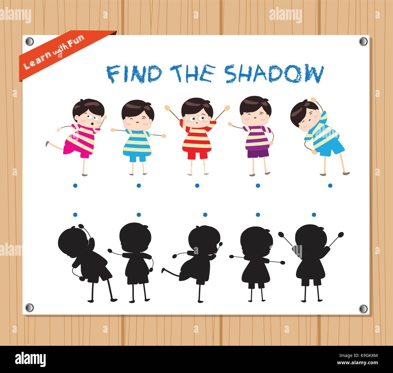 Find The Shadow Educational Activity Task For Preschool