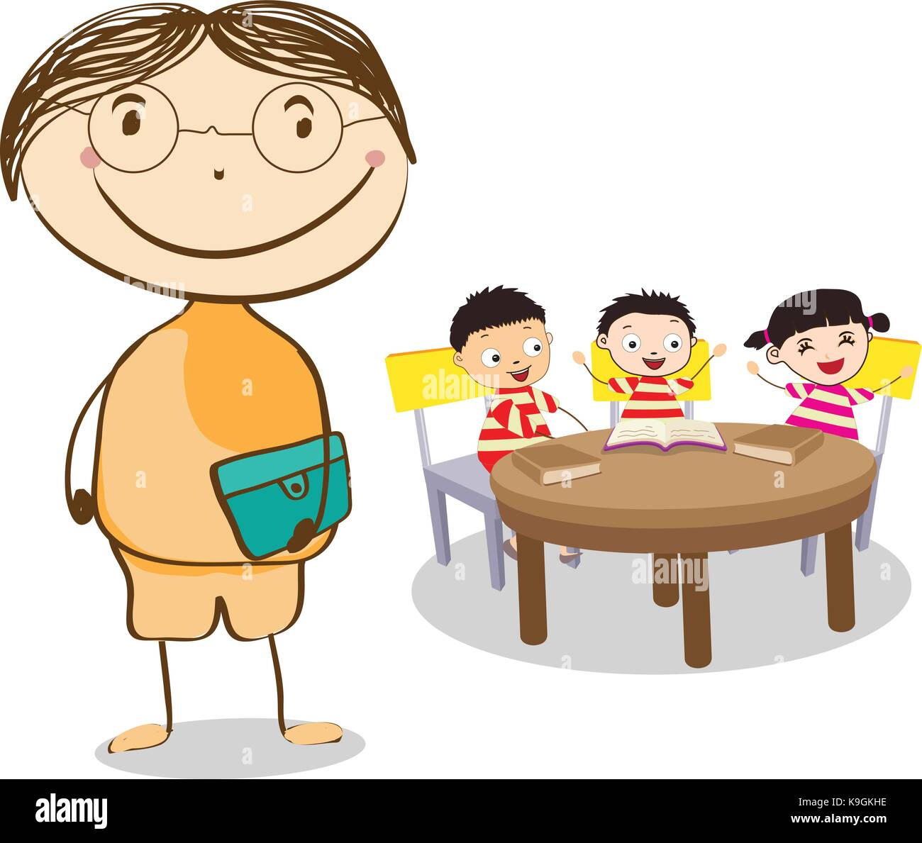 Elementary School Age Stock Vector Images