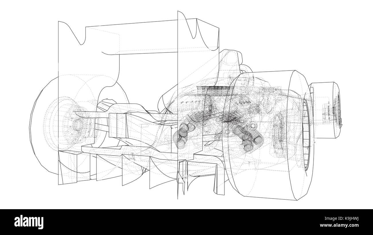 hight resolution of formula 1 car abstract drawing tracing illustration of 3d stock image