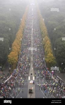 Marathon Berlin Brandenburg Gate Stock &