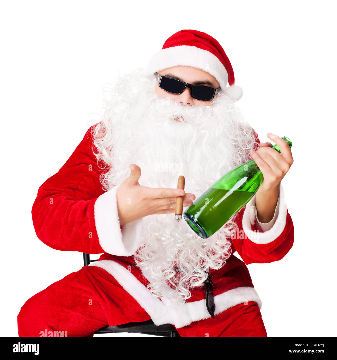 santa chair covers australia swing hammock with stand clause wearing sunglasses stock photos and