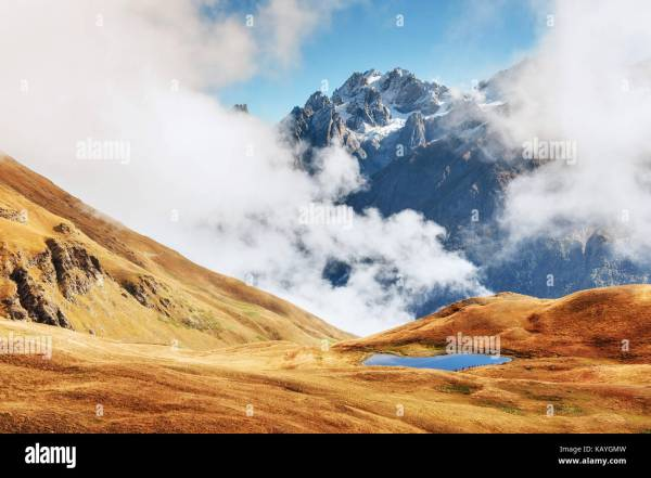 Mount Ushba Stock & - Alamy