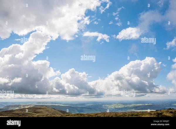 August Landscapes Blue Sky Stock & - Alamy
