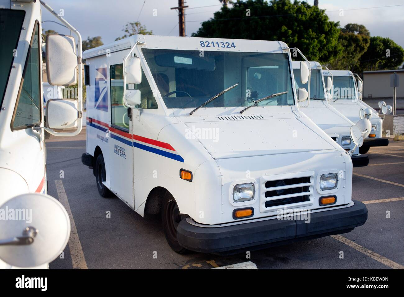 hight resolution of grumman llv long life vehicle mail trucks parked at the post office in clairemont