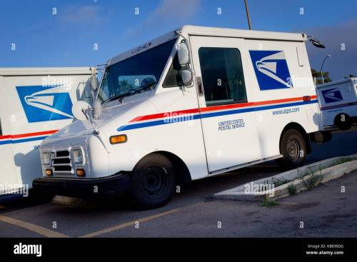 small resolution of grumman llv long life vehicle mail trucks parked at the post office in clairemont