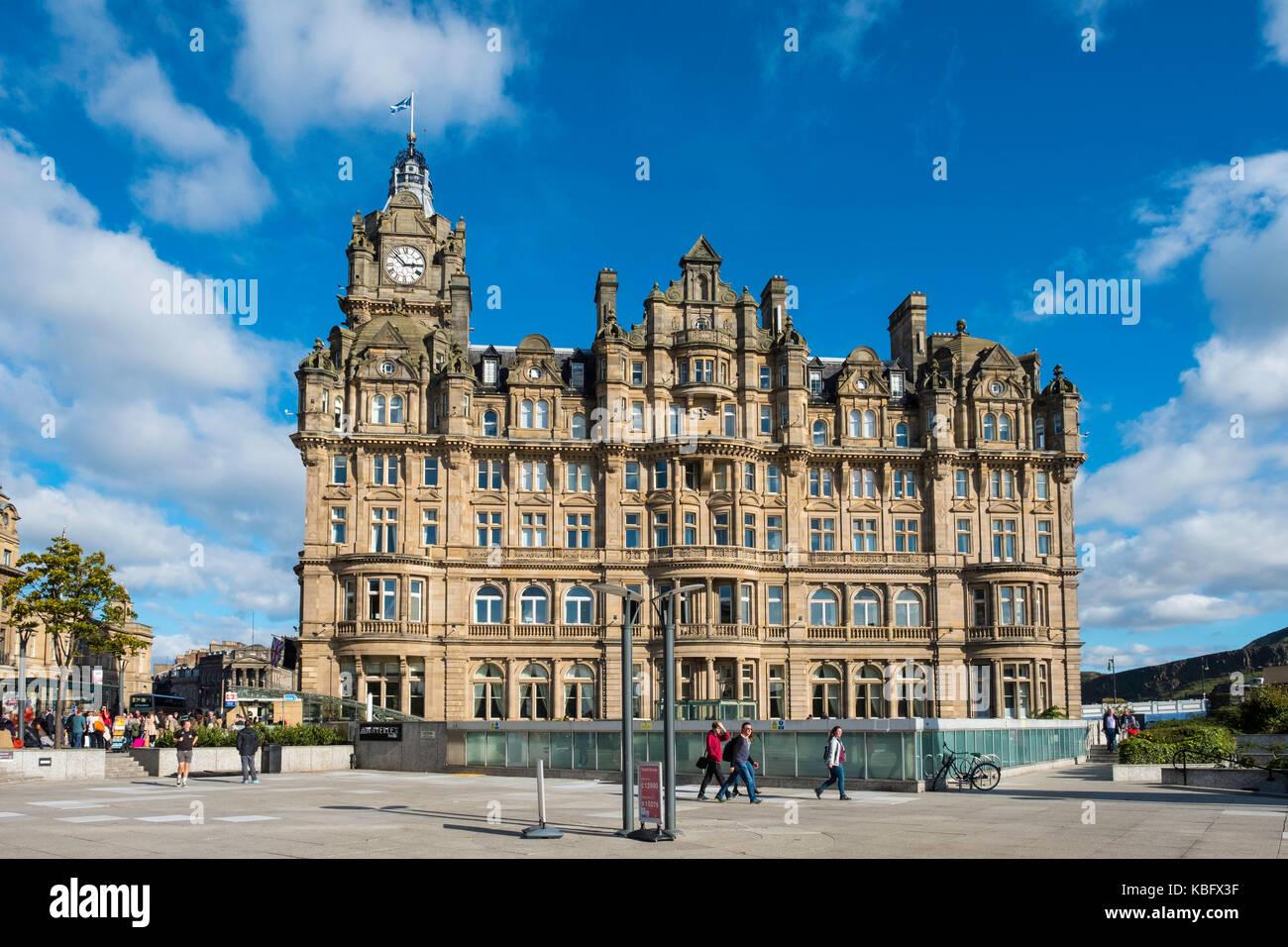 View Of Luxury Balmoral Hotel On Princes Street In Edinburgh