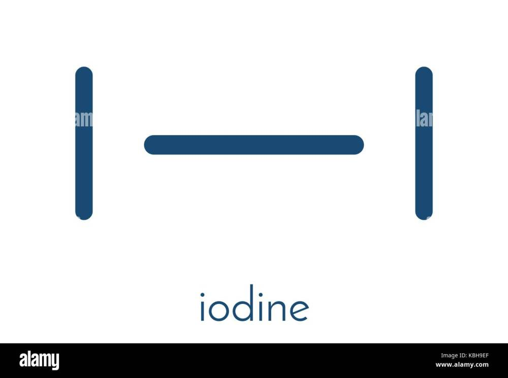 medium resolution of iodine i2 molecule solutions of elemental iodine are used as